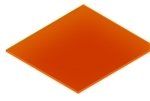 Acrylic Flourescent Orange 1/8 12x16 Cast