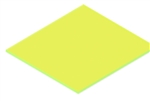 Acrylic Flourescent Yellow 1/8 12x16 Cast