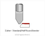 "Cutter-Bevel 1/4"" 60 Degree for 1/16 material"