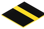 "1/16"" Laser Engravable Plastic Black/Yellow"