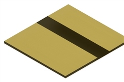 ".020"" Laser Engravable Plastic Brushed Gold/Black"