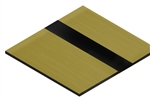 ".020"" Laser Engravable Adhesive Backed Plastic Gold/Black"